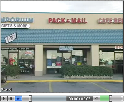 Photo of Pack and Mail in the Winn Dixie Shopping Center, Orange Beach Alabama.
